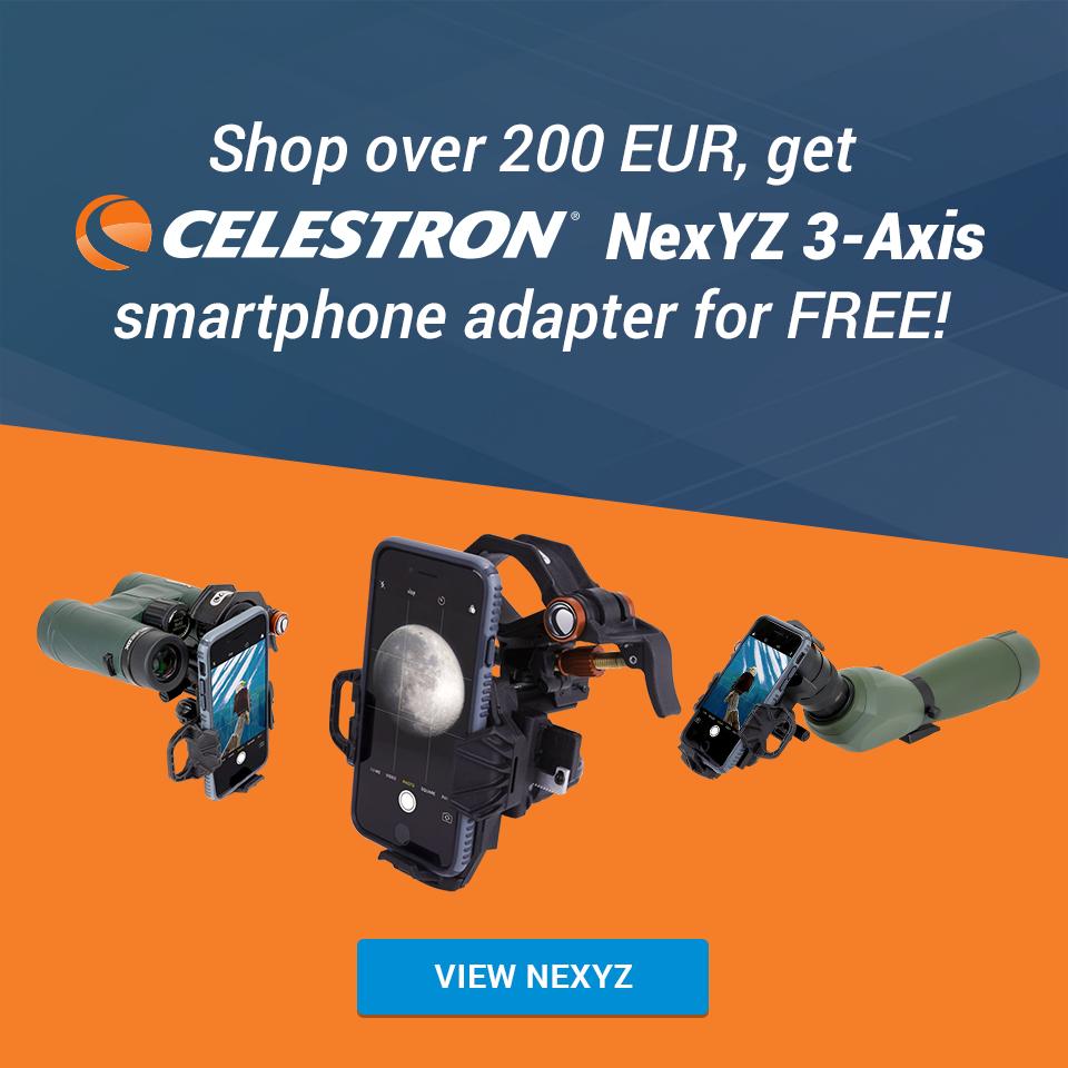 Celestron NexYZ 3-Axis universal smartphone adapter Celestron N