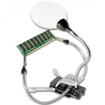 Bresser 2x/4x third hand magnifier with LED illumination
