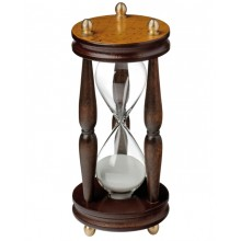 Hourglass in wood and glass