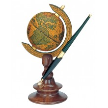 Mini world globe accessory pen holder
