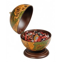 Desk globe with internal compartment
