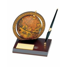 Desk globe with pen and post-it dispanser