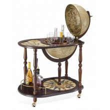 "Trolley bar globe with serving tray ""Venere"""
