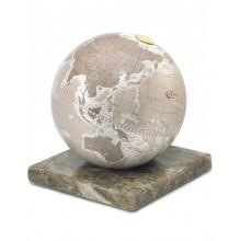 """Desk globe on marble base """"Stone""""- Warm Grey"""