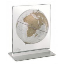 "Desk globe with plexiglass frame ""Aria"" White/Gold"