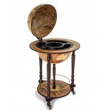 "Floorstanding globe with bar ""Da Vinci""- Rust"