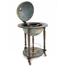 """Da Vinci"" floorstanding globe with bar- Blue Dust"