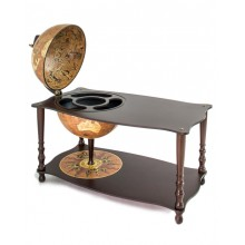 "Zoffoli ""Botticelli"" - Rust table with bar globe"