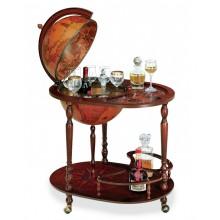 """Trolley bar globe with serving tray """"Giasone"""""""