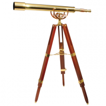 Decorative telescope Fine Brass 80/40