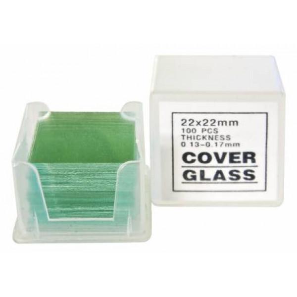 Bresser 22 x 22 mm cover plates (100 pcs.)