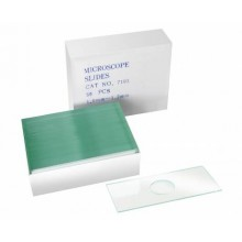 Bresser (50 pieces) blank slides with well