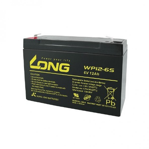 LONG 6V 12Ah Battery